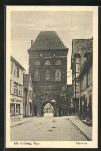 AK Marienburg / Malbork, Handlungen am Töpfertor