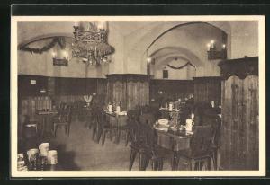 AK Wien, Restaurant Linde und Lindenkeller, Innenansicht