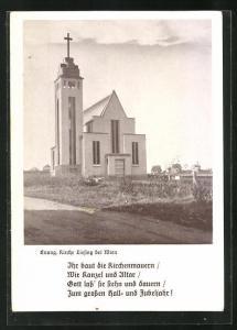 AK Wien-Liesing, Blick auf die evangelische Kirche