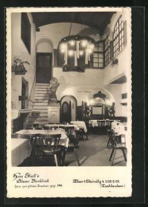 AK Wien, Gasthaus Hans Stiedl`s Gösser Bierklinik, Steindlgasse 4