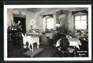 AK Mondsee, Gasthaus Castello-Bar, Innenansicht