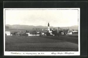 AK Feldkirchen, Blick über Felder auf die Ortschaft