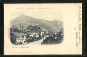 AK Losenstein, Panoramablick mit Fluss