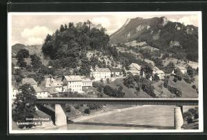 AK Losenstein a. d. Enns, Teilansicht mit Brücke