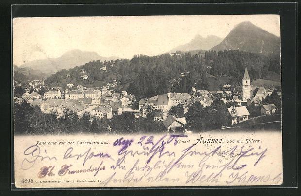 AK Aussee, Panorama von der Tauscherin aus 0