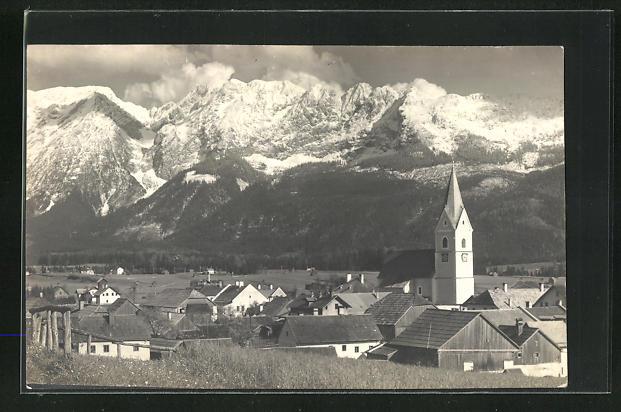 AK Mitterndorf, Ortsansicht mit Grimming 0