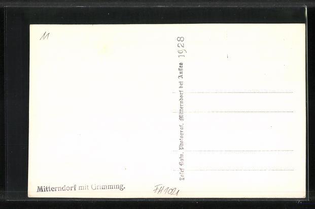 AK Mitterndorf, Ortsansicht mit Grimming 1