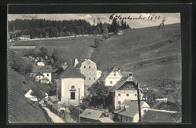 AK Mariazell, Ortsansicht aus der Vogelschau 0