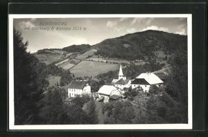 AK Schönberg, Ortsansicht mit Dürnberg & Künsten