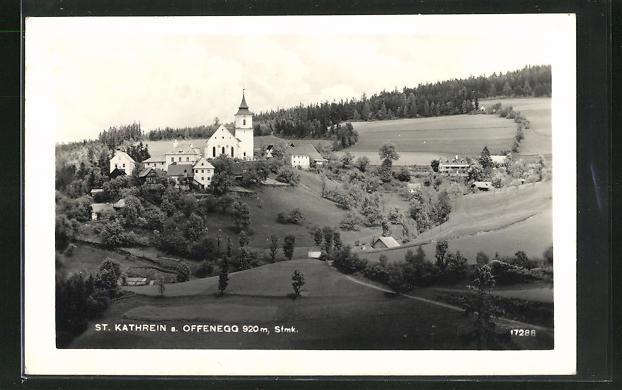 AK St. Kathrein a. Offenegg, Ortsansicht aus der Ferne 0