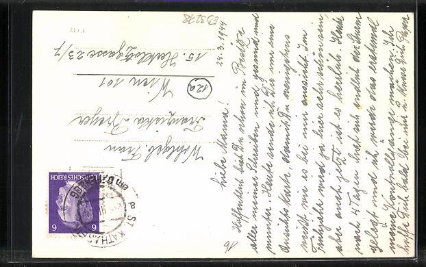 AK St. Kathrein a. Offenegg, Ortsansicht aus der Ferne 1