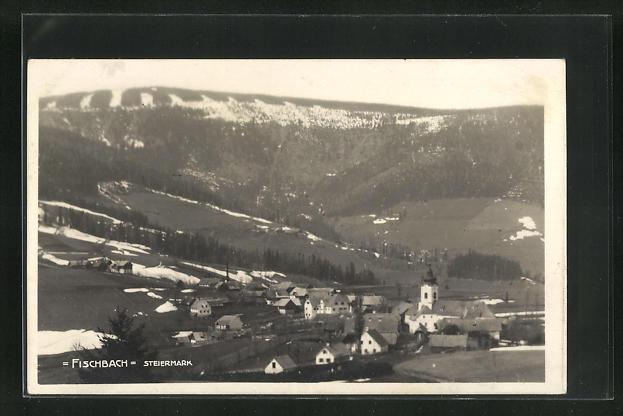 AK Fischbach, Ortsansicht aus der Vogelschau 0