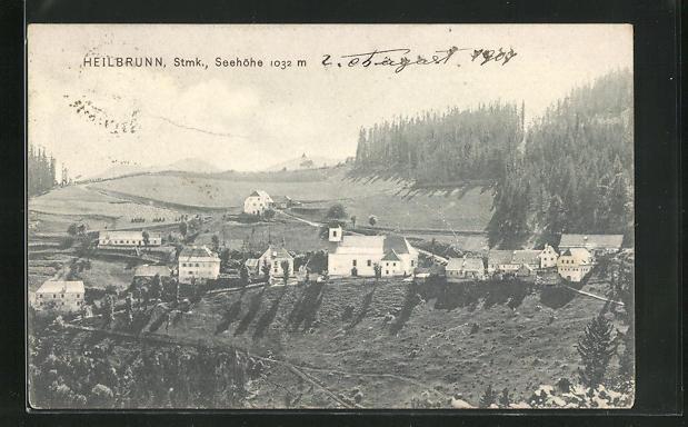AK Heilbrunn, Ortsansicht aus der Vogelschau 0