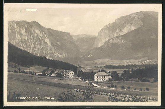 AK Tragöss-Pichl, Ortsansicht mit Bergen 0