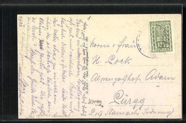 AK Tragöss-Pichl, Ortsansicht mit Bergen 1