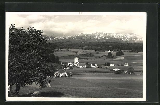 AK St. Marein, Ortsansicht mit Bergen 0