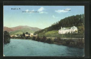 AK Bruck a. Mur, Schloss Kleinlichtenstein und Pensionat