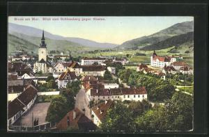 AK Bruck a. Mur, Blick auf den Ort vom Schlossberg gegen Westen