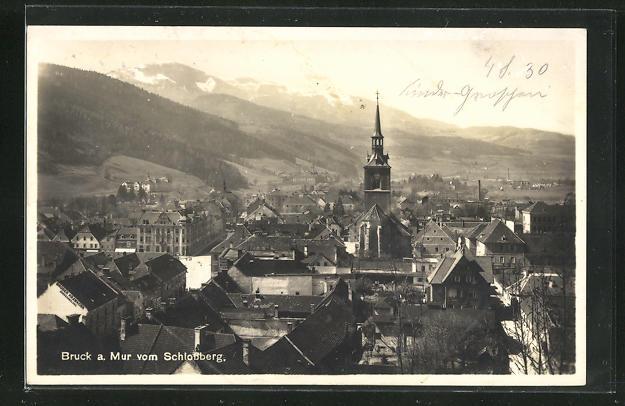 AK Bruck a. Mur, Ortsansicht vom Schlossberg aus 0
