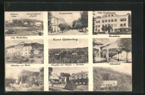 AK Bad Gleichenberg, Neun Ansichten des Ortes