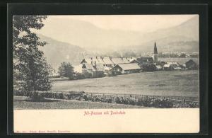 AK Alt-Aussee, Ortsansicht mit Dachstein