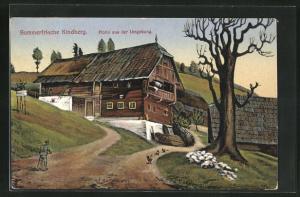 AK Kindberg, Motiv aus der Umgebung des Ortes