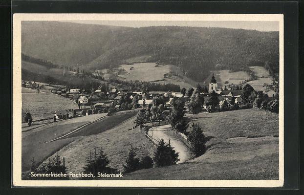AK Fischbach, Ortsansicht von einer Anhöhe aus 0