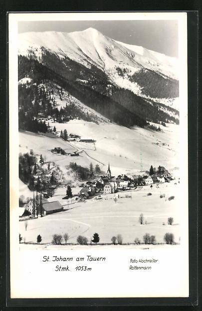 AK St. Johann am Tauern, Ortsansicht im Winter 0