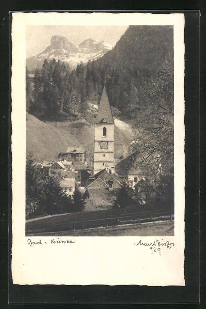 AK Bad Aussee, Teilansicht mit Kirche 0