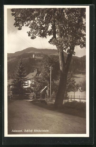 AK Admont, Blick zum Schloss Röthelstein 0