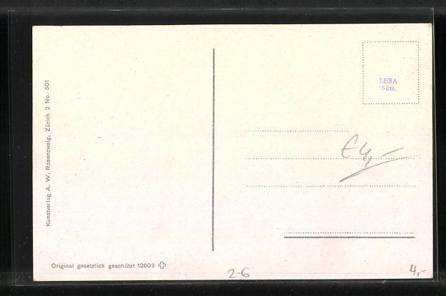 AK verliebtes Pärchen im Herz, Briefmarkensprache, Schweizer Wappen 1