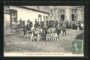 AK Celle-les-Bordes, L`equipage de bonnelles au chenil, Jagd