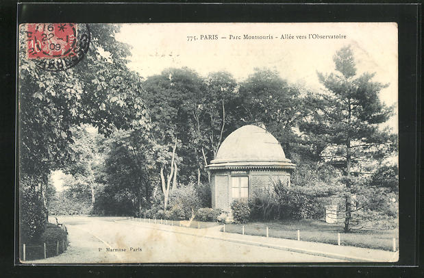 AK Paris, Parc Montsouris, Allèe vers l`Observatoire, Observatorium 0