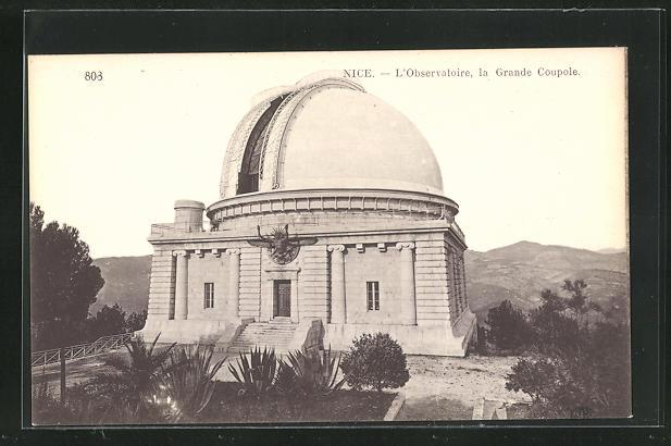AK Nice, l`Observatoire, la Grande Coupole, Observatorium 0