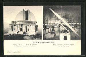 AK nice, Observatoire, Grand Couple, Grand Equatorial, Observatorium