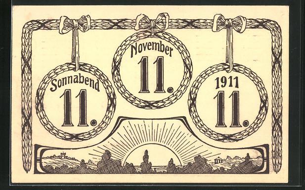 AK Kränze mit dem besonderen Datum 11.11.11 0