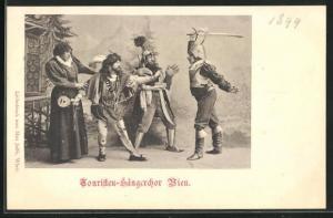 AK Wien, Touristen-Sängerchor, verkleidete Musiker beim Spiel