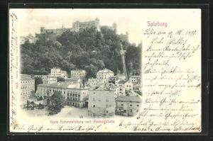 AK Salzburg, Veste Hohensalzburg und Festungsbahn, Bergbahn