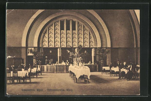 AK Wiborg, Stationsrestauranten, Bahnhofsrestaurant 0