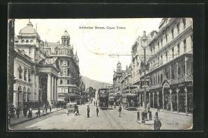AK Cape Town, Adderley Street mit Strassenbahn