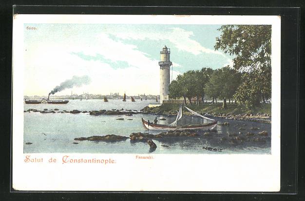 AK Constantinople, Fanaraki, Leuchtturm 0