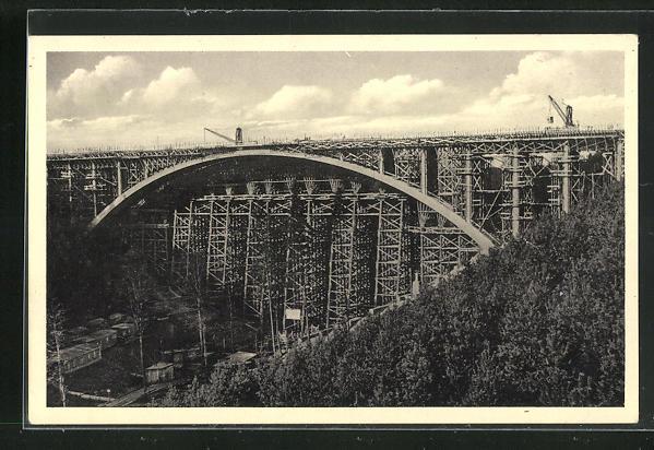 AK Teufelstal, Grösste Eisenbetonbogenbrücke Deutschlands 0