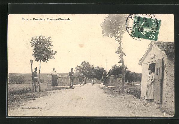 AK Brin, Frontiere Franco-Allemande, Grenze 0