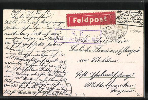 AK Franz.-Avricourt, Drogerie Schwaller, Gebäude im Vordergrunde, links war eine Kaserne der franz. Zollwächter, Grenze 1