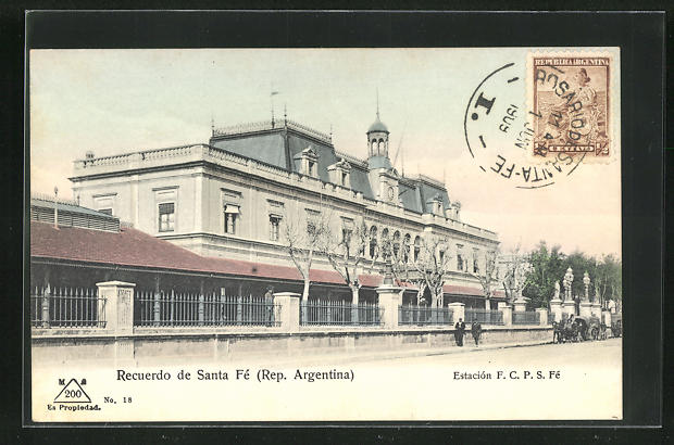 AK Santa Fe, Estacion F. C. P. S. Fe, Bahnhof 0