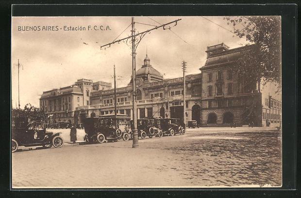 AK Buenos Aires, Estacion F. C. C. A., Bahnhof 0
