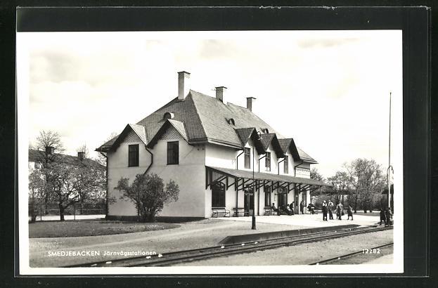 AK Smedjebacken, Järnvägsstationen, Bahnhof 0