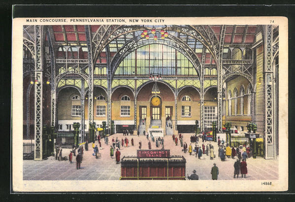 AK New York City, Main Concourse, Pennsylvania Station, Bahnhof 0