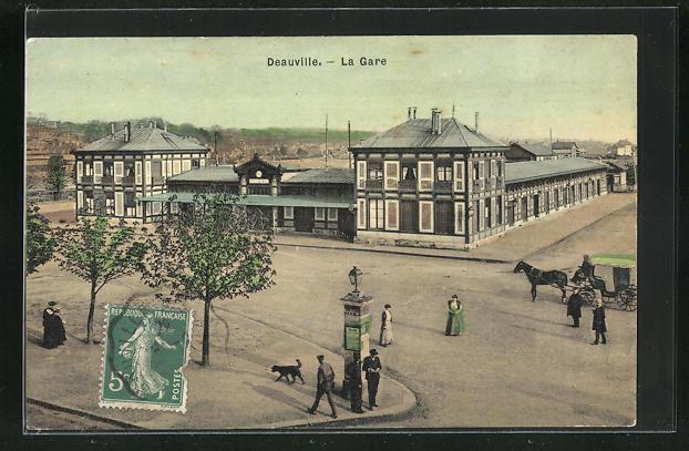 AK Deauville, La Gare 0