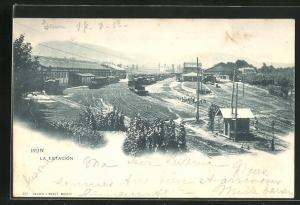 AK Irun, La Estacion, Bahnhof